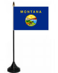 Montana Desk / Table Flag with plastic stand and base.